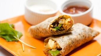 Masala Flavored Veggie Wrap with Mango Chutney