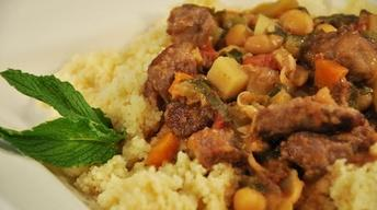 Lamb Stew with Chickpeas & Pomegranate Molasses
