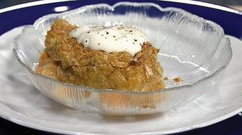 Persimmon and Pear Crisp with Lavender Sour Cream
