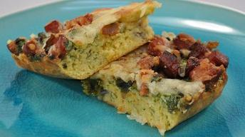 Southwestern Quiche with Cornbread Crust