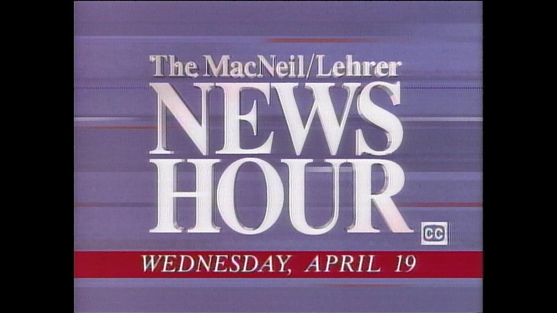 Video Macneil Lehrer Newshour 4 19 1995 Watch Oeta