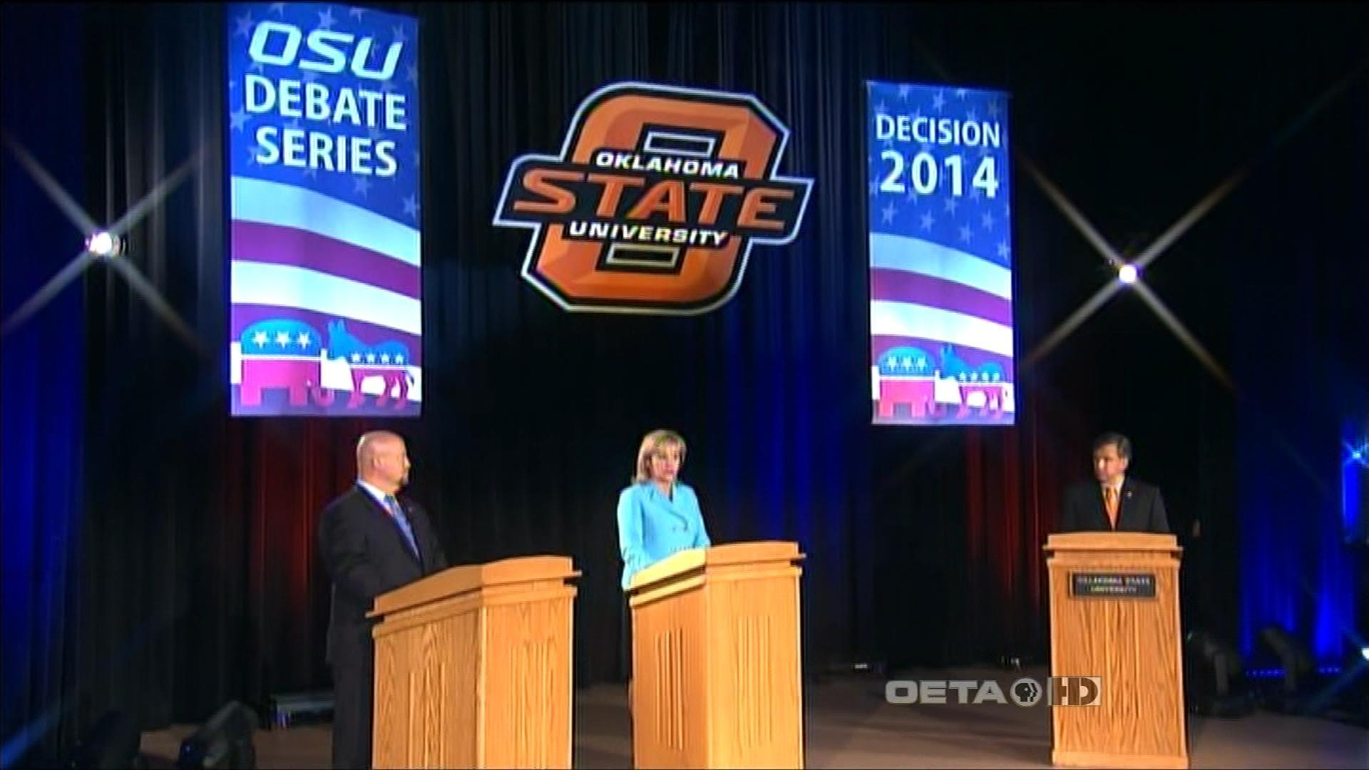 Video gov mary fallin and rep joe dorman debate watch for Oeta schedule