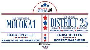 Maui County Council – Moloka'i / State Senate District 25