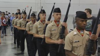 Junior ROTC Drill Competition Clip
