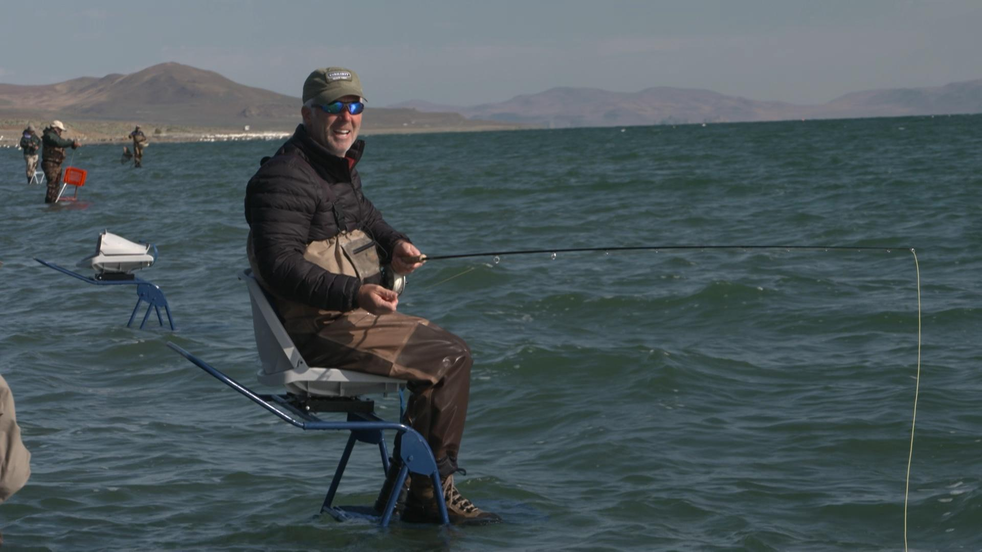 Video ladder fly fishing at pyramid lake watch outdoor for Pyramid lake fishing report