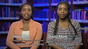 Imani Adams and Shauna Adams