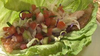 Tilapia Panko-Style Lettuce Wraps