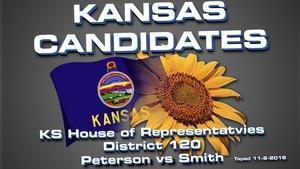 Kansas Candidates:  KS House 120  Peterson vs Smith