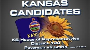 Kansas Candidates:  KS House 120  Peterson vs Smith