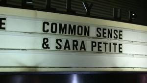 Live at the Belly Up: Common Sense/Sara Petite