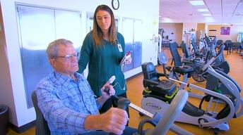 COPD patient rehabs at St Luke's