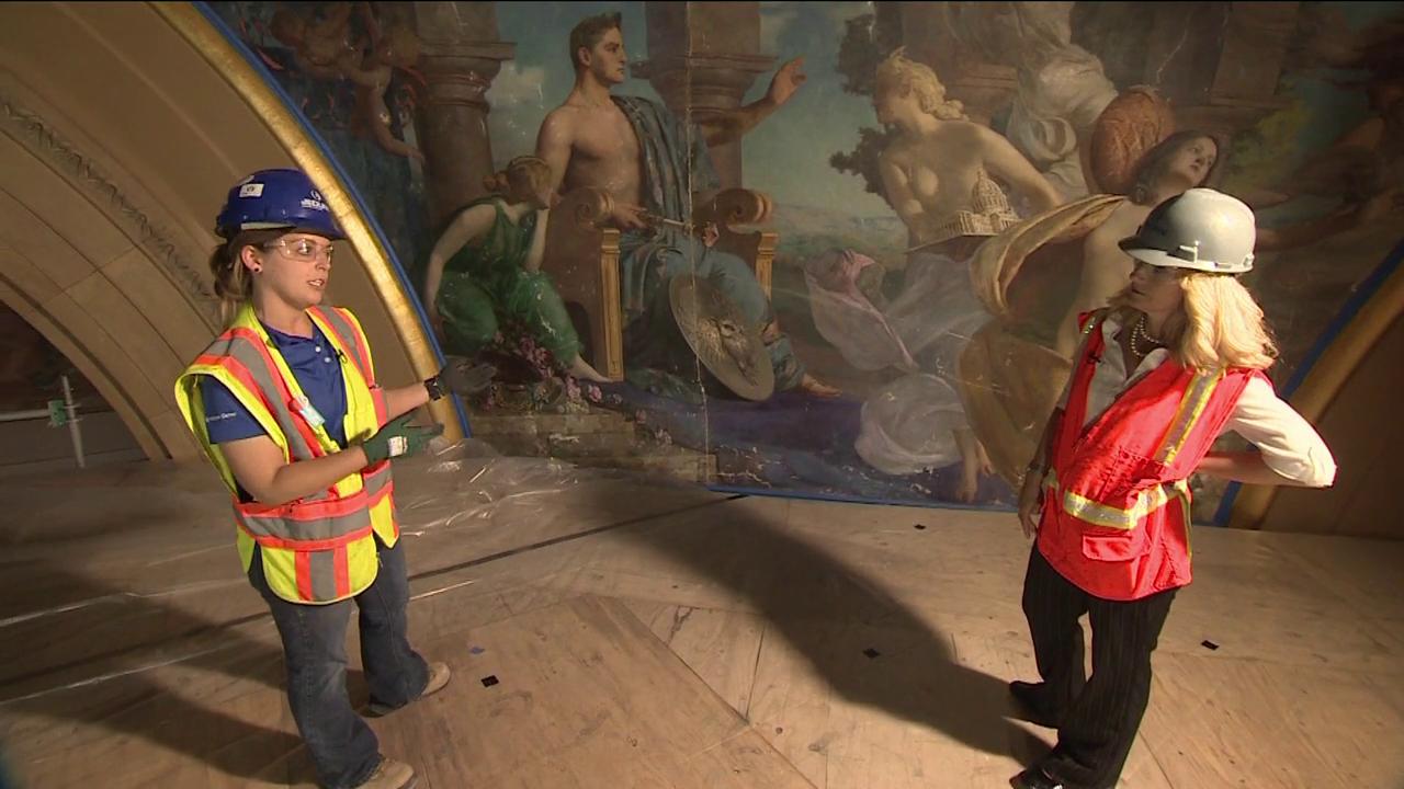 nurses strike, Mukhtar Ibrahim, capitol mural restoration