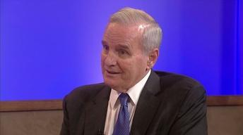 Governor Dayton in studio, protest bill, poli sci profs