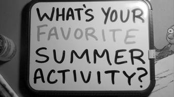 The Wrap: Summer Activities