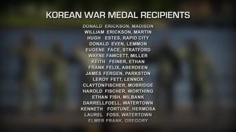 South Dakota Honor Roll - Korean Ambassador's Peace Medal