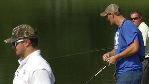 Fishing with UK Football Players