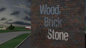 Wood, Brick & Stone