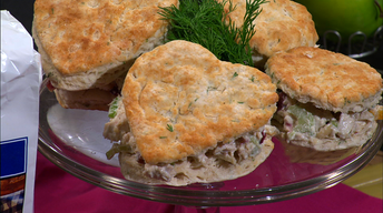 Simple Cooking: Herb Biscuits with Chicken Salad