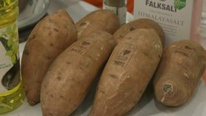 Learn how sweet potatoes are labeled with lasers
