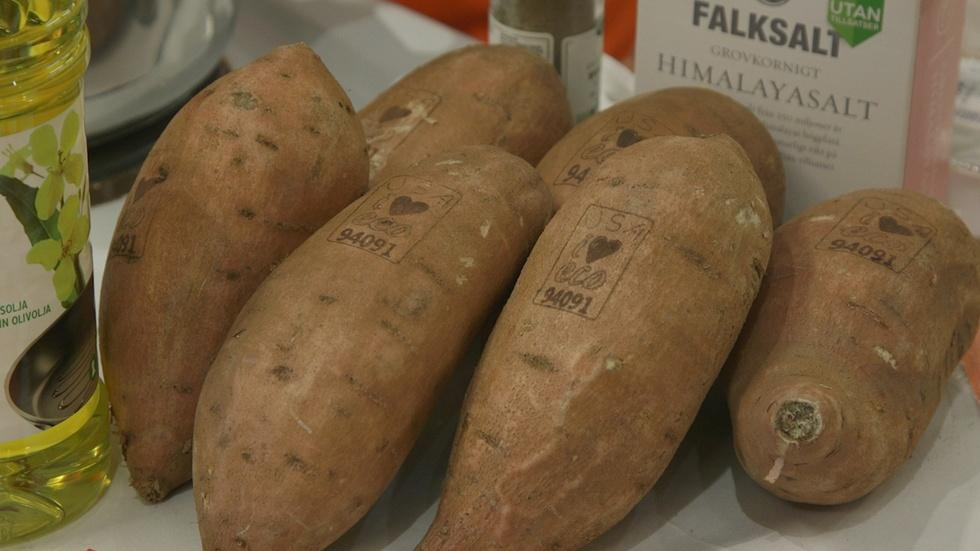 Learn how sweet potatoes are labeled with lasers image