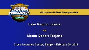 Lake Region vs. Mt. Desert Girls B State Championship