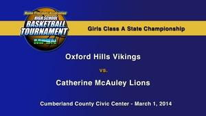 Oxford Hills vs. McAuley Girls A State Championship
