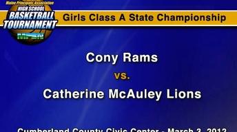 Cony vs. Catherine McAuley - A Girls - S.C. - 3/3/12