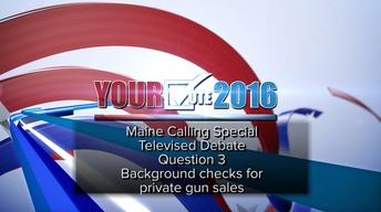 Debate on Q. 3: Firearm Background Checks, Oct. 18, 2016
