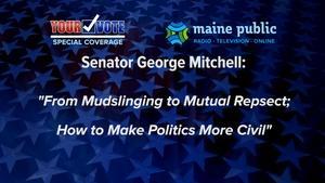 Former U.S. Sen. George Mitchell, October 20, 2016