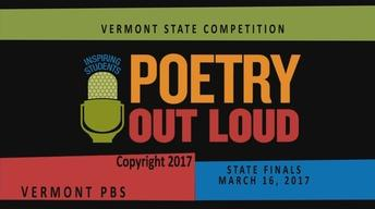 Poetry Out Loud - Vermont Finals 2017