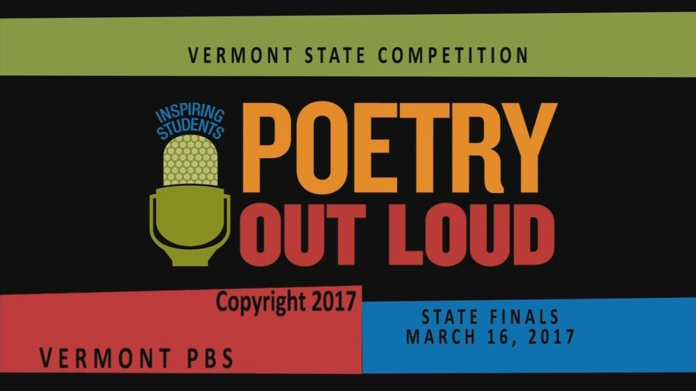 Poetry Out Loud - Vermont Finals 2017 image