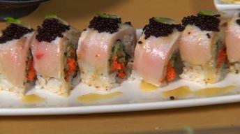Neighborhood Kitchens: Oishii's Seared Yellowtail Maki