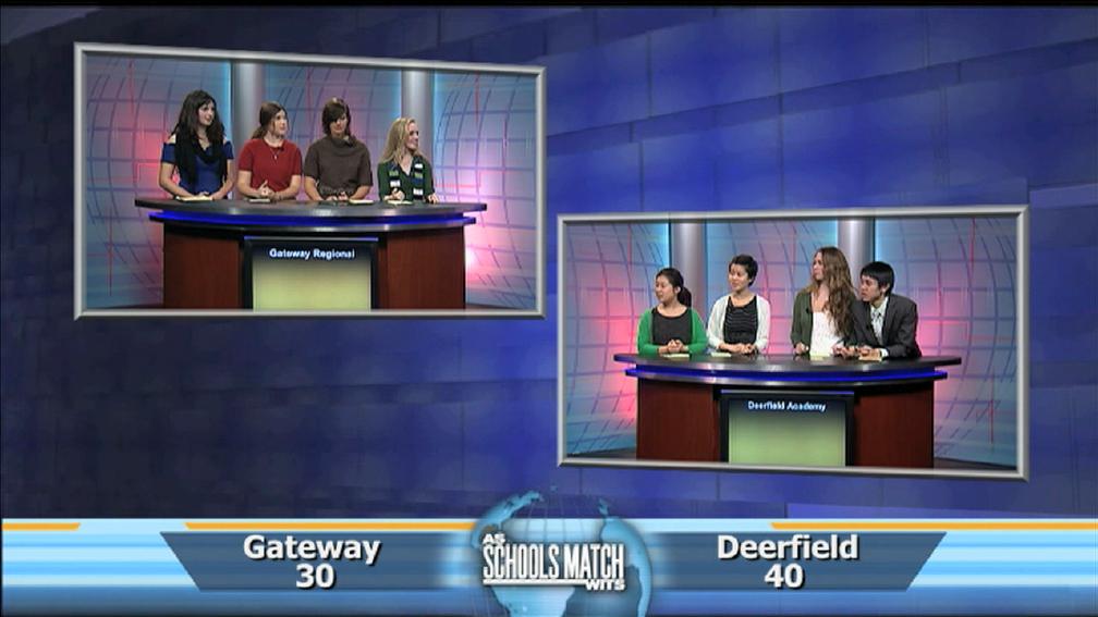 As Schools Match Wits: Gateway Regional vs. Deerfield Academ image