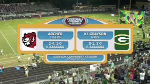 Archer vs. Grayson Week 9