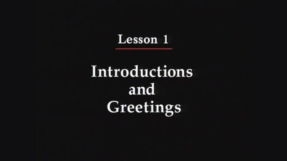 101: Introductions and Greetings image