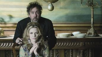 "Tim Burton and Michelle Pfeiffer for ""Dark Shadows"""