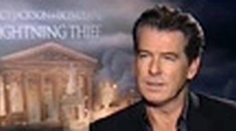 "Pierce Brosnan and the stars of ""Percy Jackson and the..."