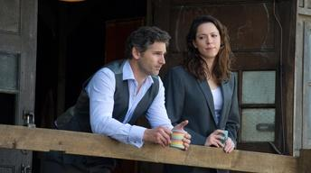 "Eric Bana and Rebecca Hall for ""Closed Circuit"""