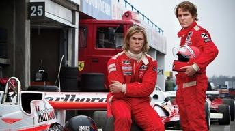 "Ron Howard and the stars of ""Rush"""