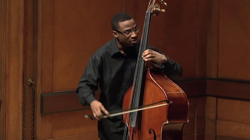 Double Bassist and Composer Xavier Foley Graduation Recital image