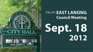 Sep. 18, '12 |  East Lansing City Council
