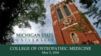 2016 College of Osteopathic Medicine Commencement