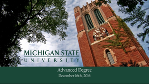 MSU Advanced Degrees Commencement Fall 2016