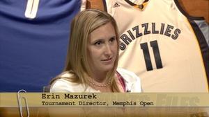 Tournament Director for the Memphis Open, Erin Mazurek