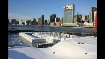 """Four Freedoms Park Time Lapse: """"The Room"""" in Winter"""