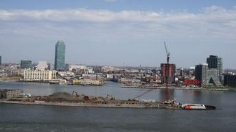 Four Freedoms Park Time Lapse: Wide View of Construction