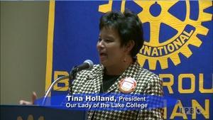 News Makers - 09/30/15 - Tina Holland, Pres.OLOL College