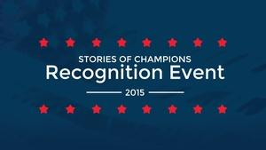 2015 Stories of Champions Recognition Event