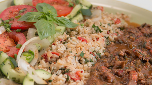 Crawfish Étouffée with Brown Rice