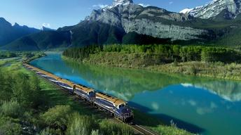 The Canadian Rockies by Rail Trailer
